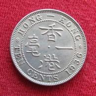Hong Kong 10 Cents 1936 KM# 19 *V2  Hong-Kong Honkong - Hong Kong