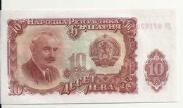 BULGARIE 10 LEVA 1951 UNC P 83 - Bulgarie