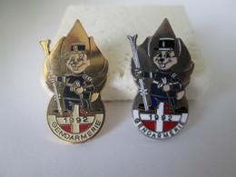 PIN'S    GENDARMERIE LOT  Or Et Argent - Army
