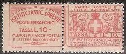 1936 REGNO FRANCOBOLLI ASSICURATIVI 10 LIRE MNH ** CERTIFICATO - 2 - Versichert
