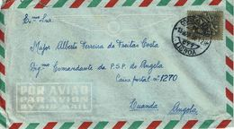 Portugal , 1958 , CORREIO AÉREO LISBOA  Postmark , Medieval Knigth 2$50 Stamp - Marcofilia