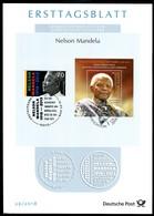 BRD - 2018 ETB 29/2018 - Mi 3404 + Block Südafrika - 70C     Nelson Mandela - FDC: Vellen