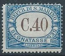 1939 SAN MARINO  SEGNATASSE 40 CENT MNH ** - RR13946 - Segnatasse