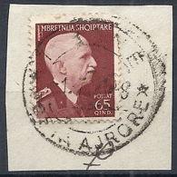 1939-40 ALBANIA USATO EFFIGIE 65 Q - RR12214 - 9. Occupazione 2a Guerra (Italia)