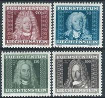 1941 LIECHTENSTEIN RITRATTI DI PRINCIPI 4 VALORI MH * - LT012 - Liechtenstein