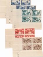 CF-71: FRANCE: Coins Datés**  N°311(défauts De Gomme)-307(défaut En Bordure)-314-315(petits Défauts)-329 - Coins Datés
