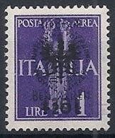 1944 OCCUPAZIONE TEDESCA LUBIANA PRO ORFANI 1 LIRA VARIETà MNH ** - RR12219 - Occup. Tedesca: Lubiana