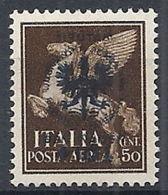 1944 OCCUPAZIONE TEDESCA LUBIANA PRO ORFANI 50 CENT VARIETà MNH ** - RR12219 - Occup. Tedesca: Lubiana