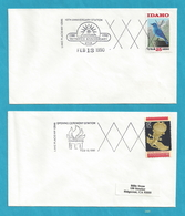 Lake Placid Olympics 10th Anniversary Celebration - 2 Commemorative Covers [#3489] - Event Covers