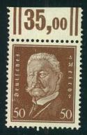 1928, 50 Üfg. Hindenburg Mit Leicht Beschnittenenm Walzendruck Oberrand - Ongebruikt
