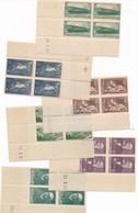 CF-75: FRANCE: Coins Datés**  N°339*-352**(pli Accordéon En Bordure)-356**-358**-377**-378** - Coins Datés