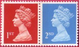 GB 1993 Machin NVI 1st & 2nd Class Se Tenant Pair SG 1514a & 1451aEb  - U/M - 1952-.... (Elizabeth II)