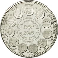 France, Médaille, 10ème Anniversaire De L'Euro, 2009, FDC, Copper-nickel - France
