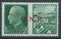1944 RSI PROPAGANDA DI GUERRA 25 CENT BRESCIA MNH ** - RR13729-4 - 4. 1944-45 Repubblica Sociale