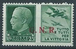 1944 RSI PROPAGANDA DI GUERRA 25 CENT VERONA MNH ** - RR13729 - 4. 1944-45 Repubblica Sociale