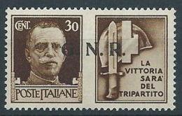1944 RSI PROPAGANDA DI GUERRA 30 CENT BRESCIA MNH ** - RR13730-2 - 4. 1944-45 Repubblica Sociale