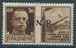 1944 RSI PROPAGANDA DI GUERRA 30 CENT VERONA MNH ** - RR13730-3 - 4. 1944-45 Repubblica Sociale