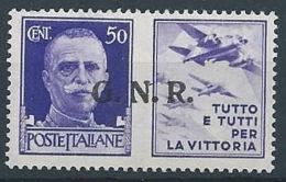 1944 RSI PROPAGANDA DI GUERRA 50 CENT BRESCIA MNH ** - RR13730 - 4. 1944-45 Repubblica Sociale