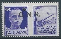 1944 RSI PROPAGANDA DI GUERRA 50 CENT BRESCIA MNH ** - RR13730-2 - 4. 1944-45 Repubblica Sociale