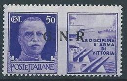 1944 RSI PROPAGANDA DI GUERRA 50 CENT BRESCIA MNH ** - RR13730-3 - 4. 1944-45 Repubblica Sociale
