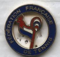Pin's Coq Fédération Française De Tennis - Tennis