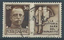1944 RSI USATO PROPAGANDA DI GUERRA 30 CENT - RR4836 - 4. 1944-45 Repubblica Sociale