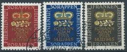 1945 LIECHTENSTEIN USATO NASCITA DEL PRINCIPE EREDITARIO GIOVANNI ADAMO - LT014 - Liechtenstein