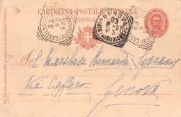 "1014 "" STORIA POSTALE-CARTOLINA A IL MARCHESE RICCARDO SOPRANIS - GENOVA"" CART. POSTALE ORIG. SPED. - Genova (Genoa)"