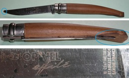Rare Couteau Pliant OPINEL Effilé, Lame Inox, Savoie France, 10 Cm - Outils