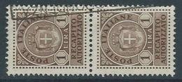 1946 LUOGOTENENZA USATO RECAPITO AUTORIZZATO COPPIA 1 LIRA - RR13128-2 - 5. 1944-46 Lieutenance & Umberto II