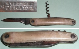 Ancien Couteau Multifonctions Véritable PRADEL, Tire-Bouchon, Ancre Marine - Outils