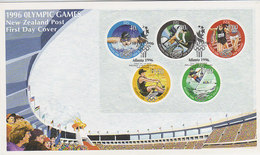 New Zealand 1996 Olympic Games Souvenir Sheet FDc - FDC