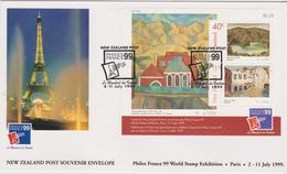 New Zealand 1999 Philexfrance 99 Miniature Sheet FDC - FDC