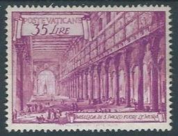 1949 VATICANO BASILICHE 35 LIRE MH * - RR13351 - Vatican