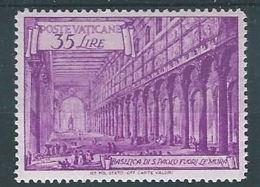 1949 VATICANO BASILICHE 35 LIRE MH * - VTU063 - Vatican