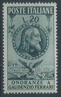 1950 ITALIA FERRARI MH * - RR13204 - 1946-60: Nieuw/plakker