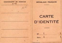 CARTE D'IDENTITE -RF -N°1337-1952  TARBES - Maps