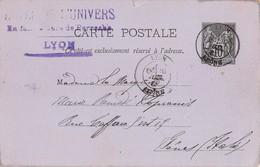 "1027 "" STORIA POSTALE-CARTOLINA A MADAME SOPRANIS - GENOVA"" CART. POSTALE ORIG. SPED. - Lyon"