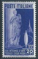 1951 ITALIA ARTE TESSILE MH * - RR13932 - 1946-60: Nieuw/plakker