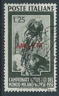 1951 TRIESTE A USATO CICLISMO - RR13866 - Gebraucht