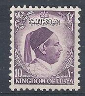 1952 LIBIA REGNO EFFIGIE RE IDRISS 10 M MNH ** - RR12615 - Libya
