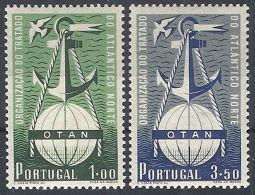 1952 PORTOGALLO PATTO ATLANTICO 2 VALORI MH * - RR12424 - 1910 - ... Repubblica