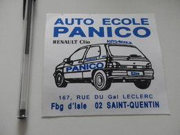 Autocollant - Ville - SAINT QUENTIN - Renault Clio - Auto école - Autocollants