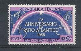1953 ITALIA PATTO ATLANTICO 60 LIRE MNH ** - RR8113 - 1946-60: Mint/hinged