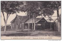 L28 47) SAINTE LIVRADE SUR LOT (LOT ET GARONNE)  ESPLANADE  ST- MARTIN ET LE CASINO - (2 SCANS) - Autres Communes