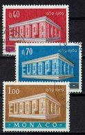 Monaco 1969 // Mi. 929/931 O (M.027..994) - Europa-CEPT