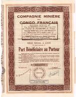 Action Ancienne - Compagnie Minière Du Congo Français - Titre De 1933 - N° 012.278 - Afrika