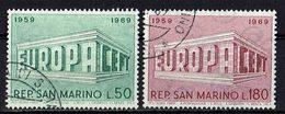 San Marino 1969 // Mi. 925/926 O (M.027..995) - Europa-CEPT