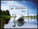 Bosnia And Herzegovina 2010 Fauna, Birds, Swan, Block, Souvenir Sheet MNH - Swans