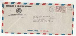 1955 MEXICO Organizacion Estados Americanos Comte Accion Cultural  To UN Social Affairs USA United Nations COVER Stamps - Mexico